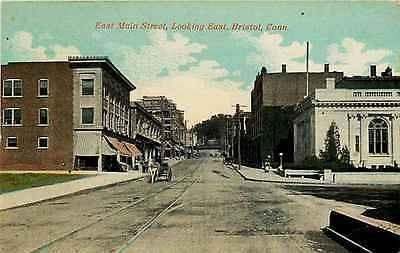 Bristol Connecticut CT 1908 Town Post Office East Main Street Vintage Postcard - Moodys Vintage Postcards - 1