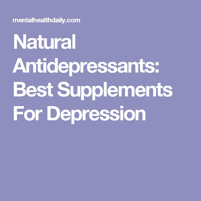 Natural Antidepressants: Best Supplements For Depression