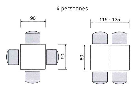 1000 images about dimensions techniques on pinterest for Table ronde 8 personnes dimensions