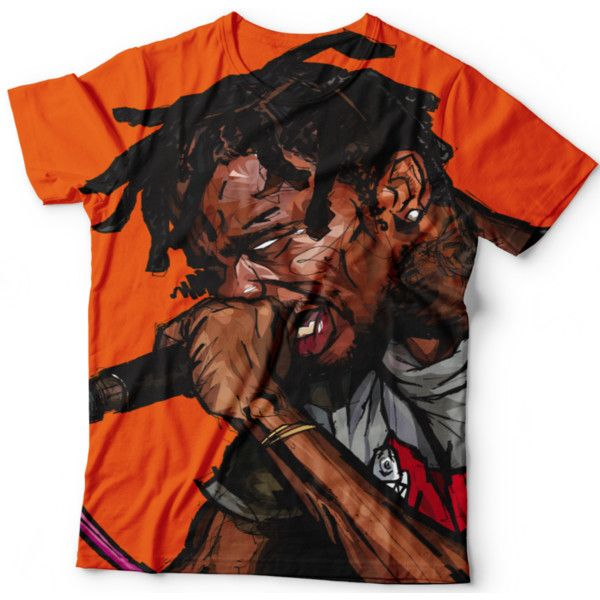Travis Scott T Shirt ($40) ❤ liked on Polyvore featuring tops, t-shirts, animal tees, black top, black shirt, animal t shirts and shirts & tops