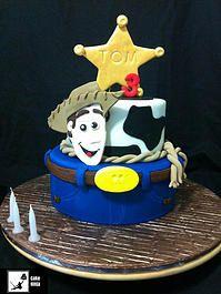 Cake Ninja, Cake Decorating Brisbane | CELEBRATION CAKES  www.cakeninja.com.au Woody Toy Story Cake 2 tier sheriff