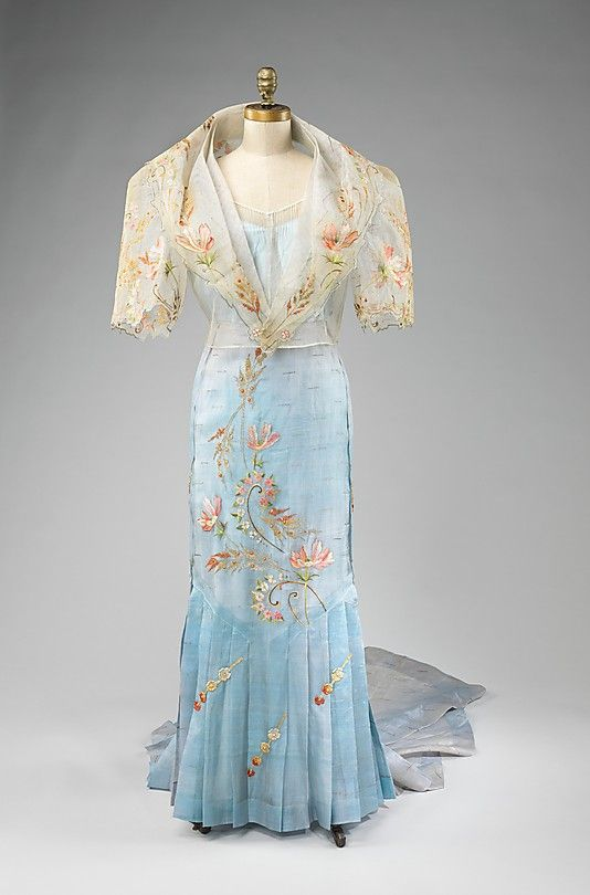 Ensemble Date: 1920–40 Culture: Philippine Medium: piña, metal, silk. Front