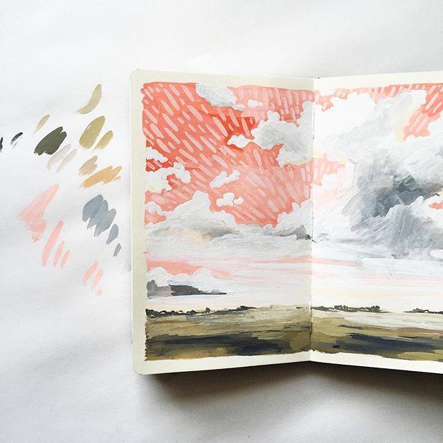 Carrie Shyrock sketchbook on Instagram March 7, 2016