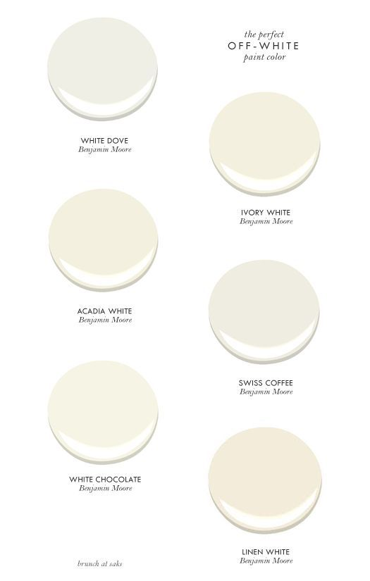 six perfect off-white paint colors
