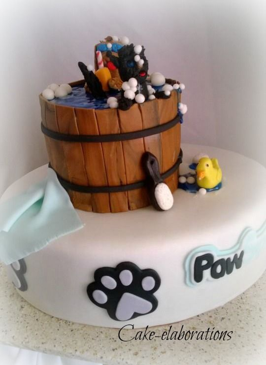 Pet Groomer S Themed Birthday Cake