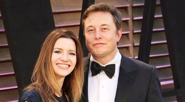 Happy Days! Elon Musk and Talulah Riley together