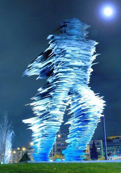 The Runner Legendary sculpture ~ Athens, Greece.