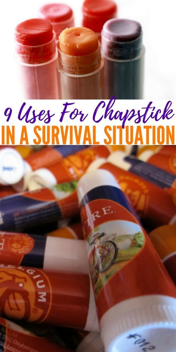 9 Uses For Chapstick In A Survival Situation — Chapstick is an extremely handy item to have in your EDC, bug out bag or survival kit. Not only is it (obviously!) very helpful for protecting chapped skin, but it can protect cuts and burns as well. #survivalgearbugoutbag
