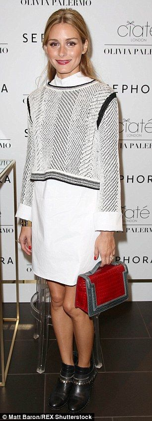 Officially on the market! Olivia Palermo debuted her fall colour collection in collaboration with Ciate London at Sephora in New York City's Times Square on September 12, 2015