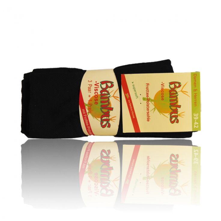 Bambus Massage Socken Frottee-Sohle - 3 Paar