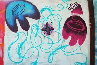 mural ulubiony, lekko psychodeliczny