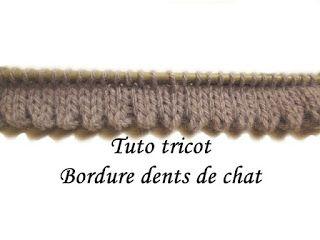 Bordure dent de chat au tricot