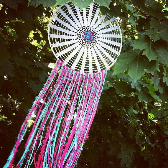 Crochet dreamcatcher crochet dream catcher crochet colourful