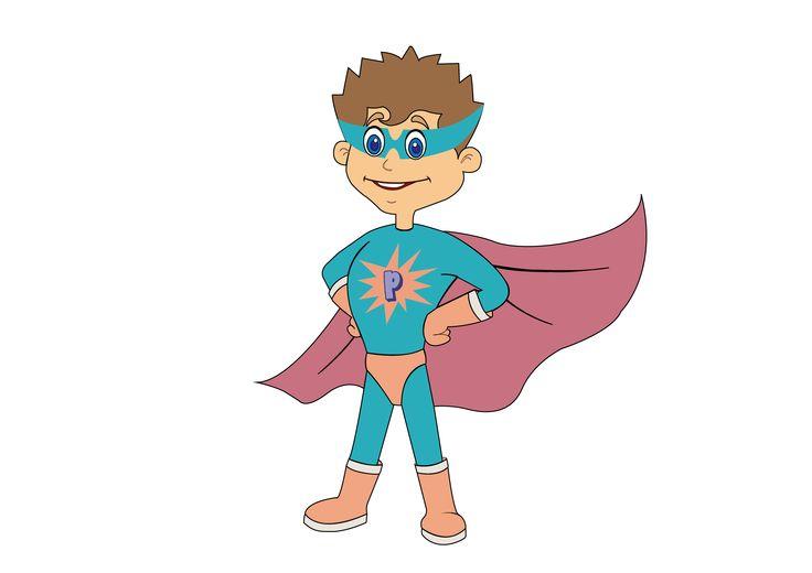 PowerPlay Party Bus male superhero character 'PJ'.