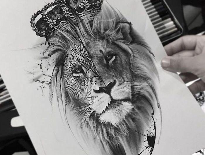 ▷ 1001 + coole Löwen Tattoo Ideen zur Inspiration – Svenja M