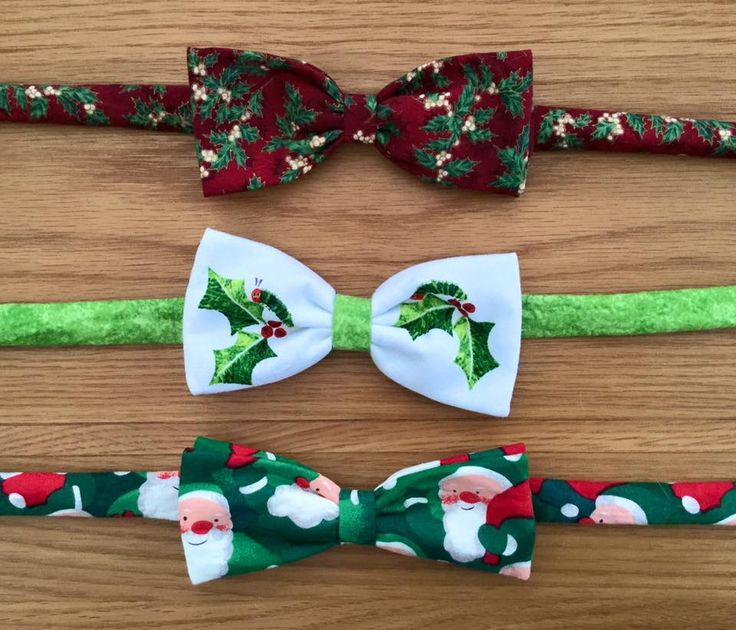 Christmas themed bowties