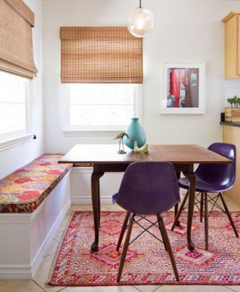 For the sunroom - jewel-tone-decor-9-purple-and-pink-against-white-background © Turquoise Interiors