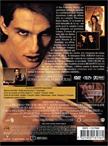 Entretien avec un vampire: De Jordan Neil – Avec Cruise Tom – Pitt Brad – Rea Stephen – Dunst Kirsten – Slater Christian – Banderas Antonio…