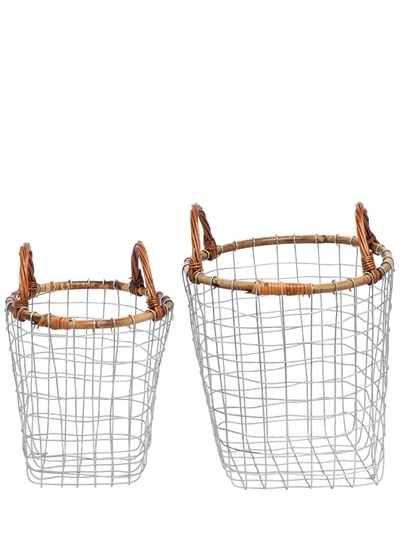 SET OF TWO STEEL BASKETS