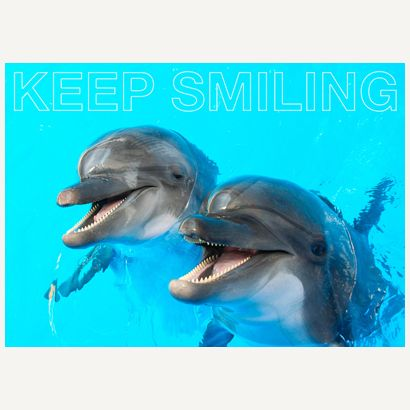 Keep Smiling #postcards