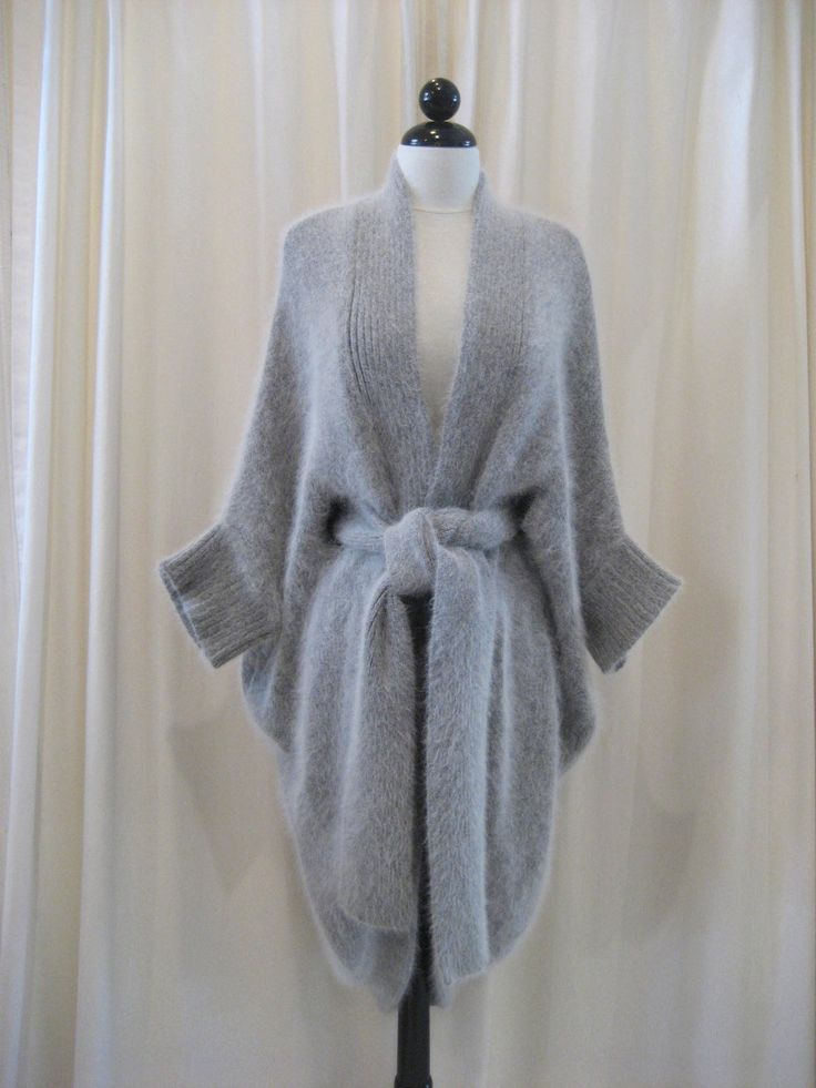 Thomas Wylde Light Grey Angora Sweater Coat                                                                                                                                                                                 More