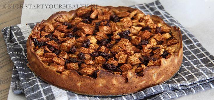 Een gezonde glutenvrije appeltaart met maar 10 ingrediënten. Een gemakkelijk recept voor gezond gebak. Vrij van geraffineerde suiker, gluten en zuivel.