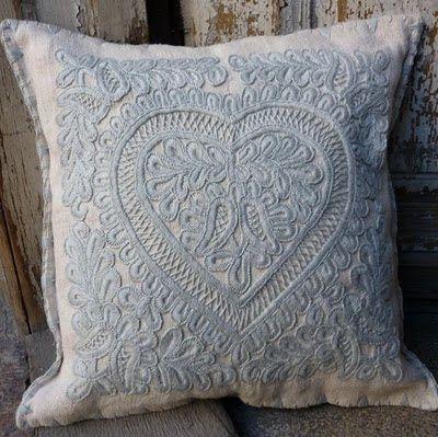 párna - vintage linen and hemp: Hungarian Embroidery (2) Kalotaszeg
