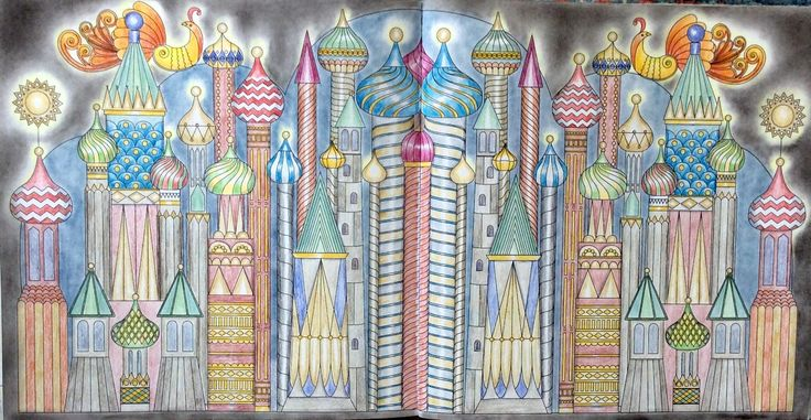 Dream Cities. Moscow. Coloured in Holbeins, by Prue.