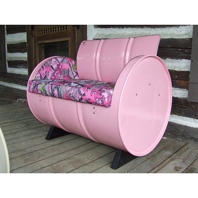 Country Chic Armchair (Pink), Patio Furniture (Steel)