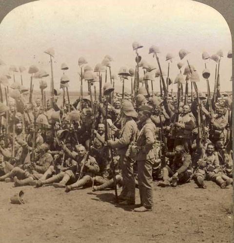BOER WAR Orig Stereoview Photo ROYAL MUNSTER FUSILIERS | eBay