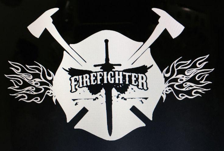 Firefighter Decal, Maltese Cross Decal, Maltese Decal, Fireman Decal, Firefighter Cross, Flames Decal, Fire Dept Decal, Maltese Cross by DEESTEESandMORE on Etsy https://www.etsy.com/listing/495238312/firefighter-decal-maltese-cross-decal