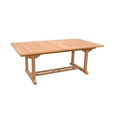Valencia Rectangular Dining Table with Double Extensions by Anderson Collections. $1800.00. Double built-in butterfly pop-up leaf (can be used with 1 or 2 leafs). Seats 10 to 12 people.. Marine Grade fittings to last in all types of weather. Grade A Teak. TBX-117RD Features: -Extension table.-Material: Teak wood.-Unique built-in butterfly pop-up leaf enables you to open and close your table in less than 15 seconds.-Leaf folds away for easy storage.-Come with umbrella hole...