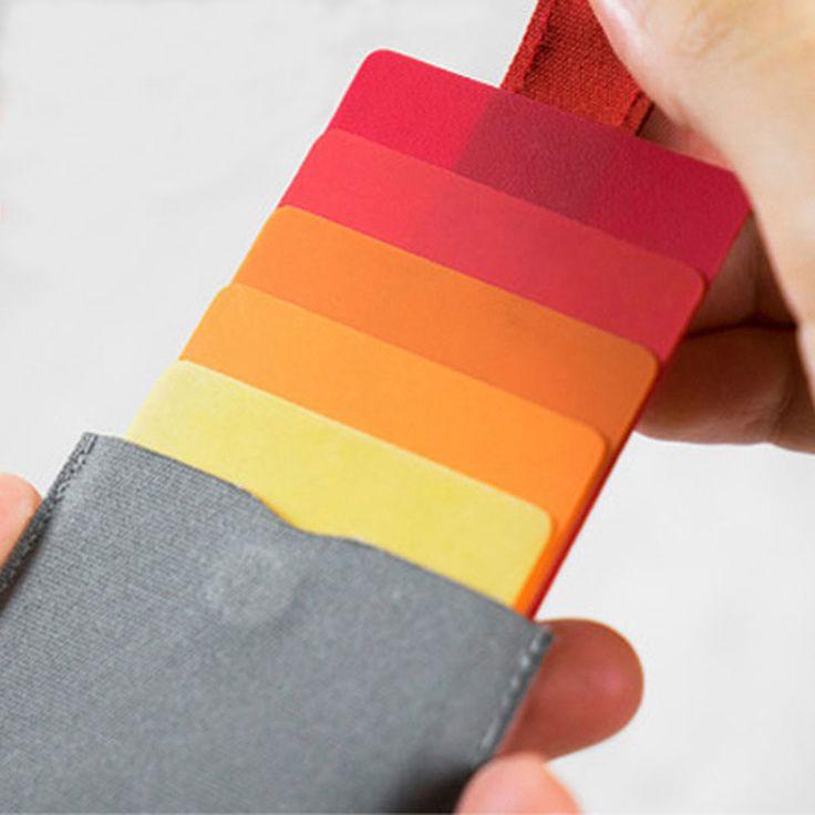 DAX portátil Ultra-fino Simples Pacote de Cartões de Pacote de Cartões de Moda Gradiente Colorido Inteligente Em Cascata Puxar Moeda De Armazenamento Bolsa