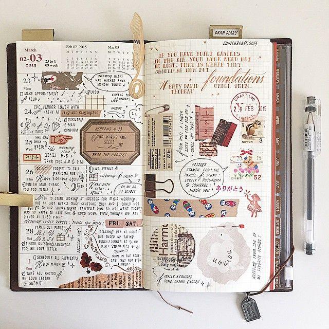 Week 09 ✍ MTN #midori #midoritravelersnotebook #travelersnotebook #journal #vintage #... | Use Instagram online! Websta is the Best Instagram Web Viewer!