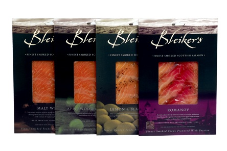 A sliced pack of each of our renowned speciality smoked salmons - something to delight the taste buds of everyone, includes:-     • Malt Whisky Smoked Scottish Salmon  (200g)  • Applewood Smoked Romanov Salmon cured with beetroot, dill & sugar (200g)  • Lemon & Pepper Smoked Scottish Salmon (200g)  • Applewood & Calvados Smoked Scottish Salmon (200g)