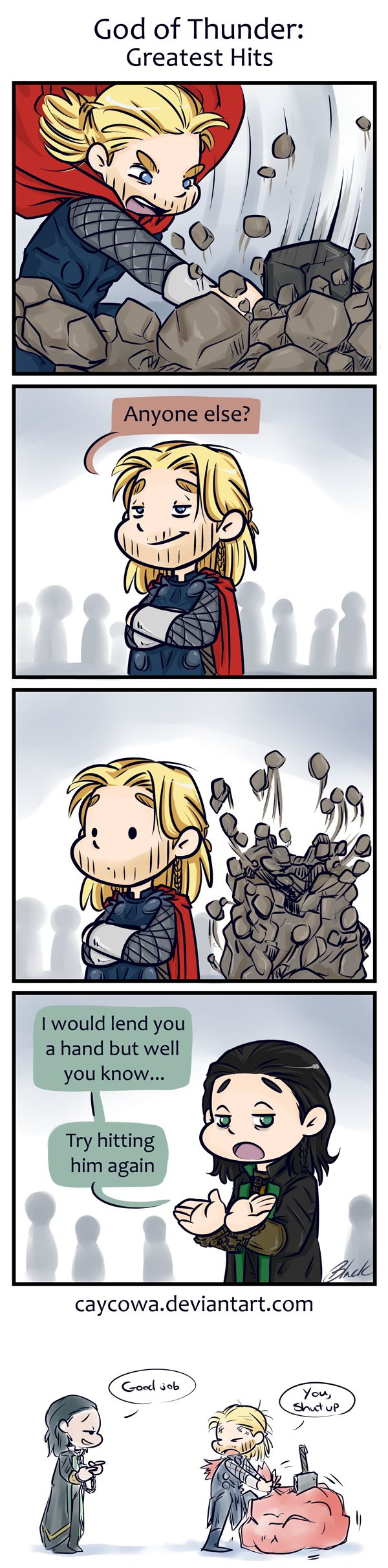 Thor 2 - God of Thunder: Greatest Hits by caycowa.deviantart.com on @deviantART