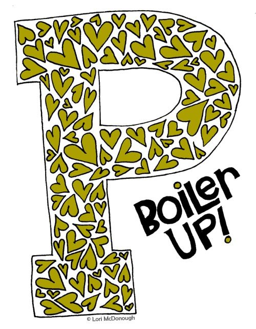 Hail Purdue! Original art by @LoriMcDonough!