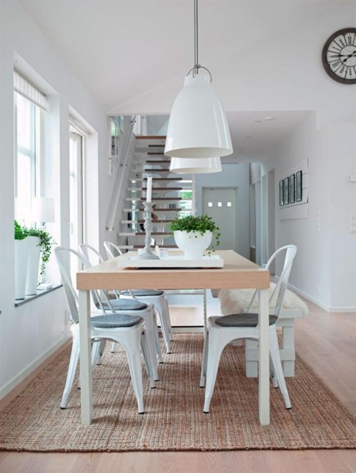 salle manger scandinave chaises tolix grande table design scandinave