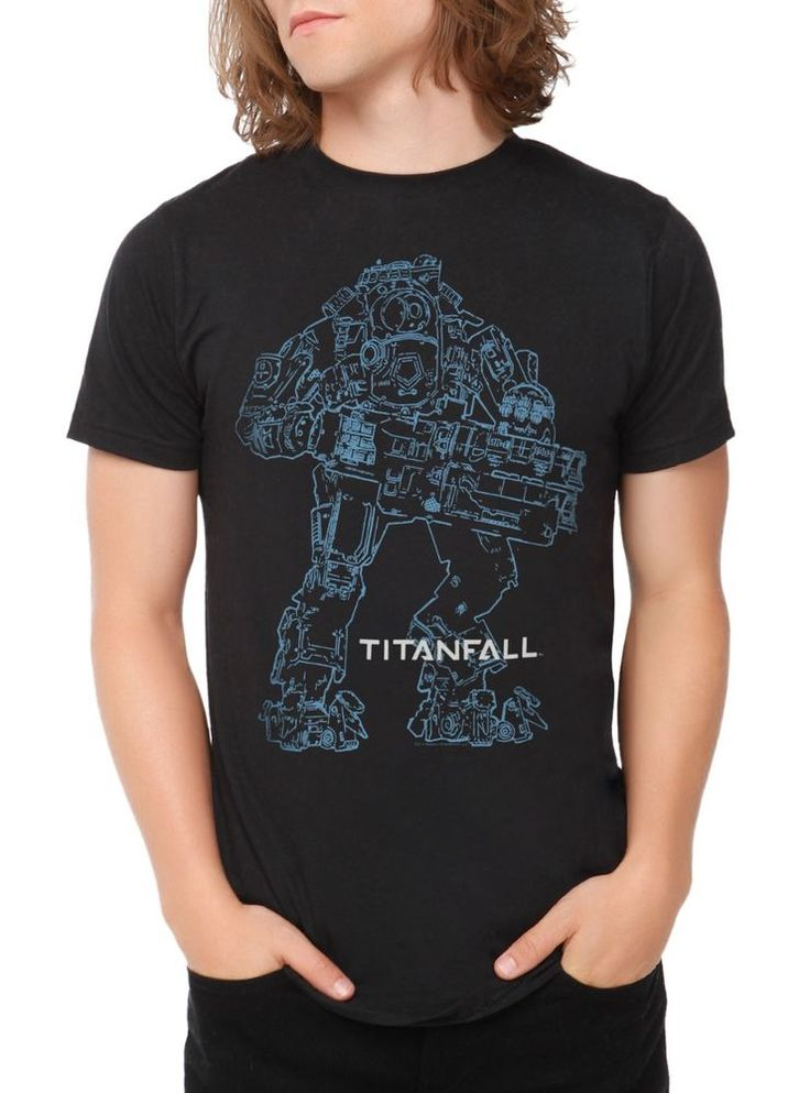Titanfall Atlas Outline Mens Black T-Shirt Adult Tee Top Video Game Titan Fall #Jinx #GraphicTee