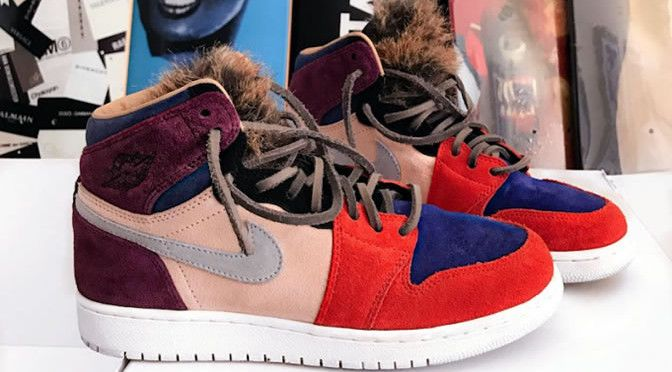 """This Exclusive Jordan 1 For Aleali May Resembles The Nike Dunk Low """"Viotech"""""""