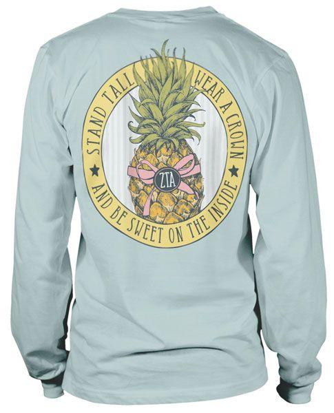 Zeta Tau Alpha Pineapple T-shirt