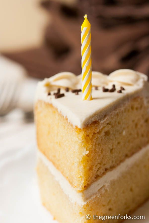 Vegan Birthday Cake: Make it gluten free too by using a GF flour mix. TheGreenForks.com