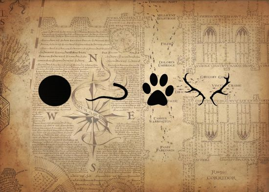 The Marauders - Moony, Wormtail, Padfoot and Prongs Art Print