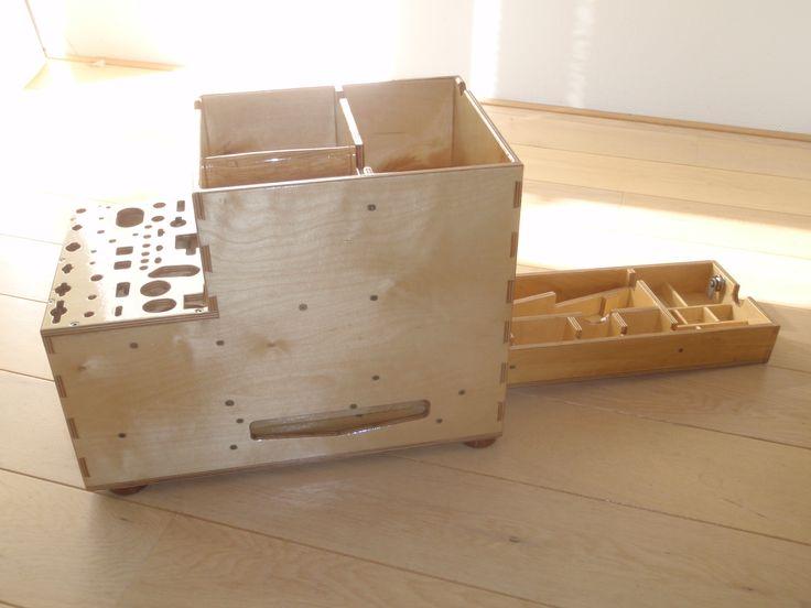 toolbox insert for dewalt DWST08204 DS400 XL case though system, magnetic saw holder,