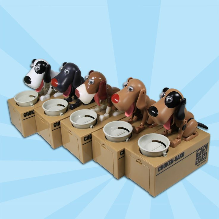 Free Shipping 1Piece Cutest Choken Bako Robotic Dog Bank Doggy Coin Bank Canine Money Box For Dog Lover