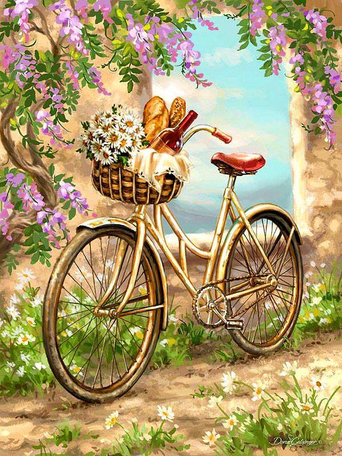 Картинки для декупажа велосипед