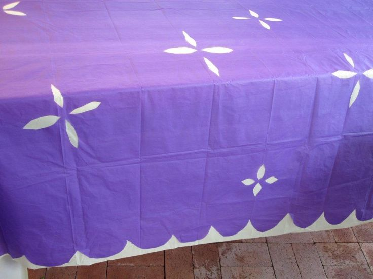 Using 2 Plastic Tablecloths