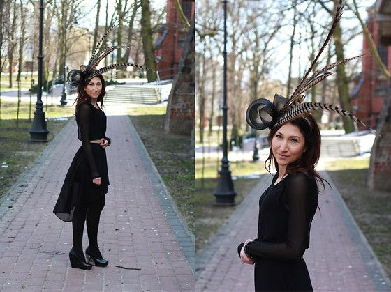 Nina Dunin Fascinator, Pull & Bear Dress