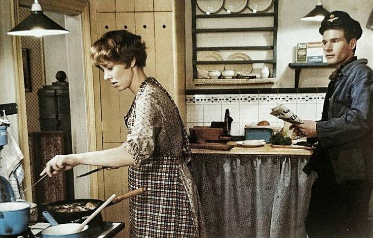 Agnes & Laurits i deres køkken