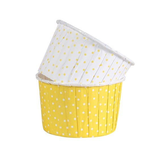 Yellow & White Polka Dot Cupcake Cases   Baking Cups   Cupcake Decoration   Baking Cases   Party Tableware   Party Cupcake Cases by byJoessa on Etsy